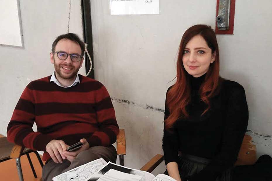 Alberto Rizzi, regista e Chiara Mascalzoni, attrice di Ippogrifo produzioni